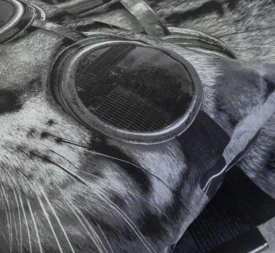 Dekbedovertrek Antraciet Kat