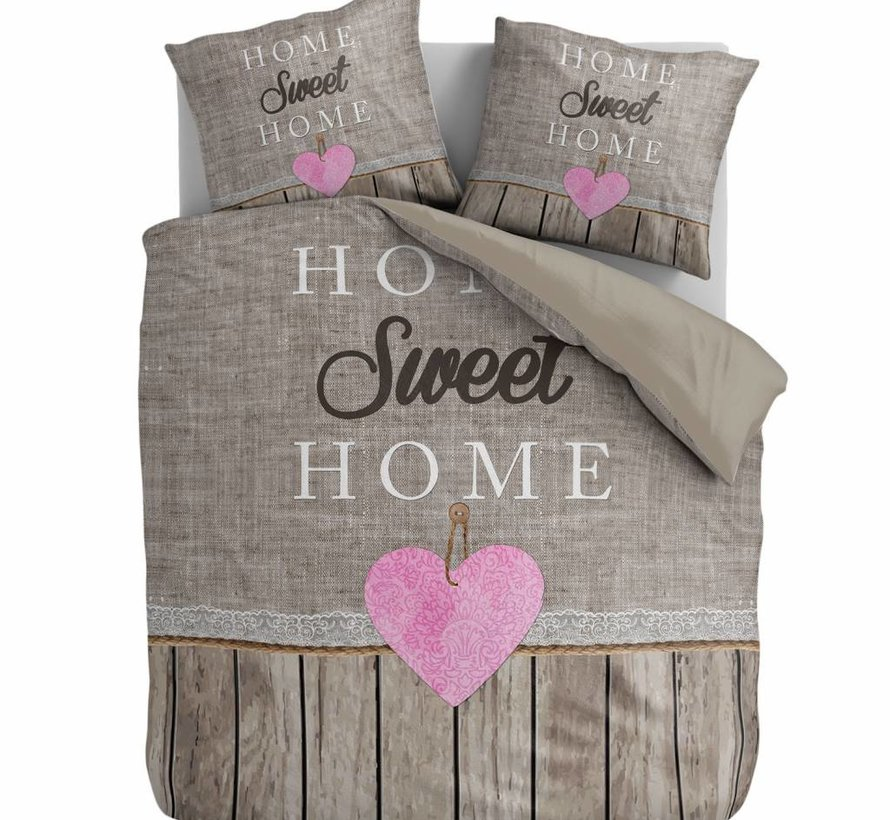 Taupe Dekbedovertrek Home Sweet Home