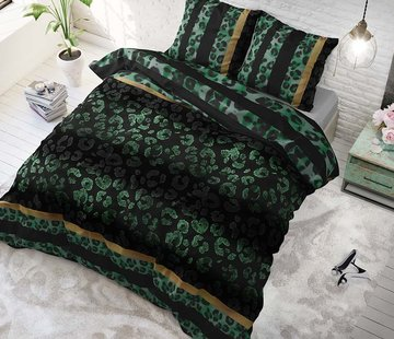 Sleeptime Dekbedovertrek Panther Gradient Green