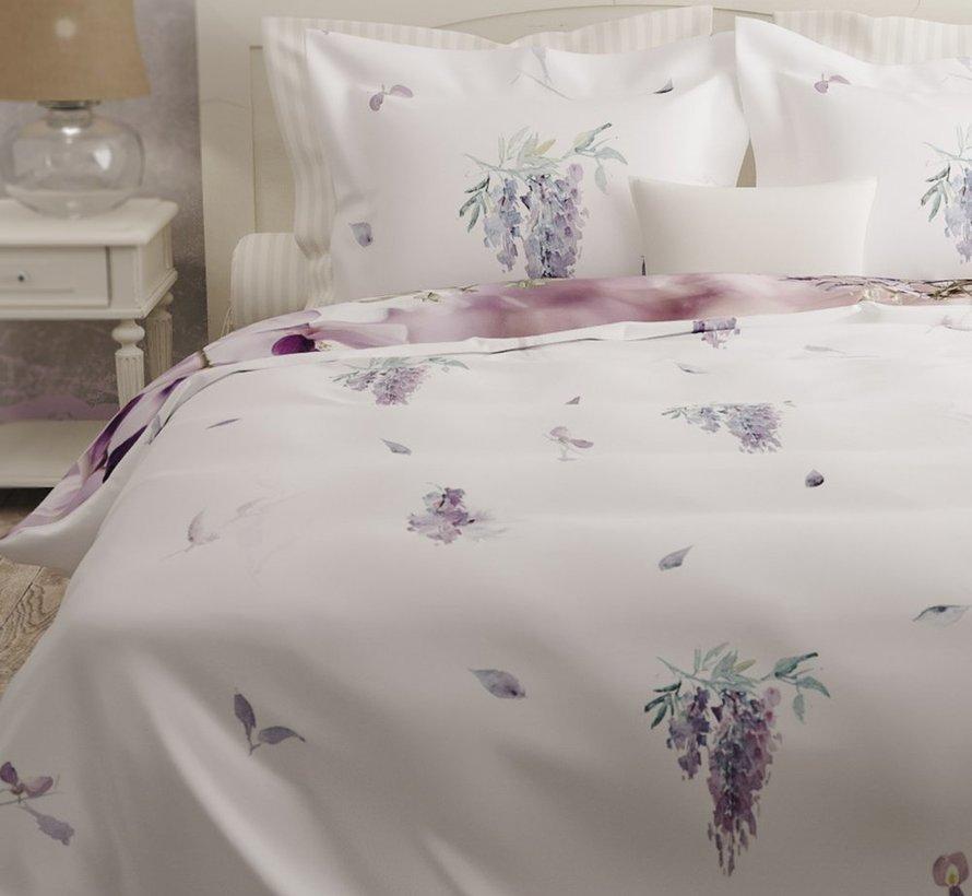 Luxe Dekbedovertrek Met Paarse Bloemen