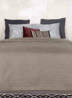 Ambianzz Sprei Cubes Taupe