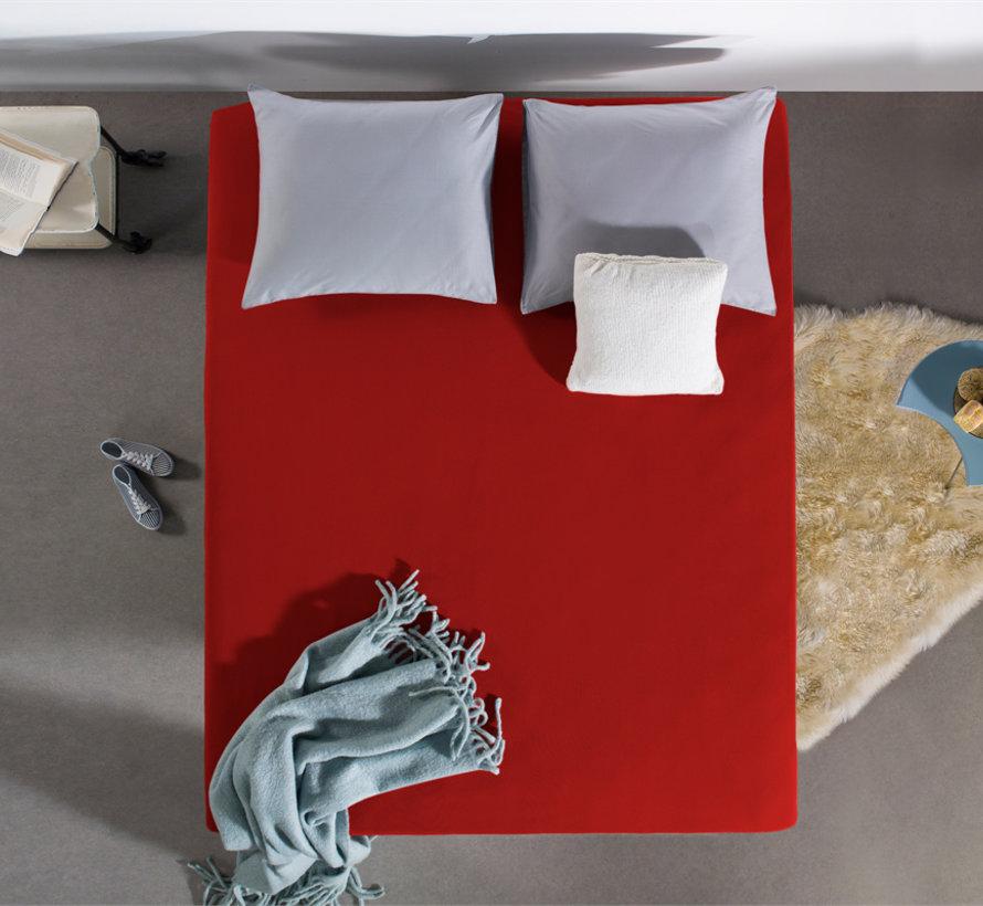Dubbel Geweven Jersey Hoeslaken - Rood