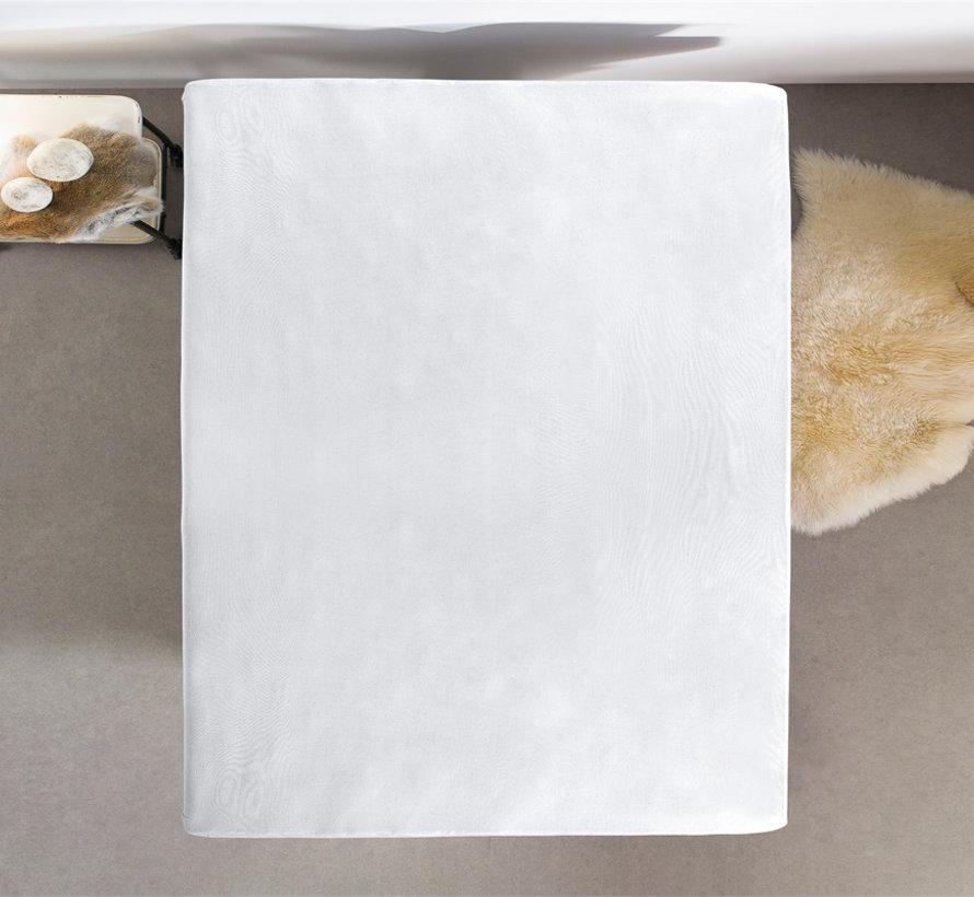 Dubbel Geweven Jersey Hoeslaken Wit