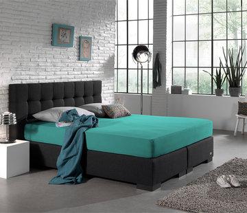 Home Care Dubbel Geweven Jersey Hoeslaken Turquoise