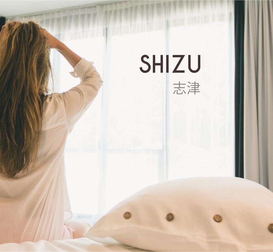 Dekbedovertrek Katoen Satijn Shizu Wit