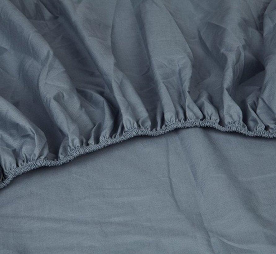 Katoen Perkal Hoeslaken Donkerblauw