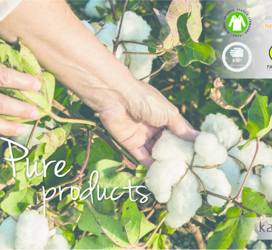 Ecologisch Splittopper Hoeslaken Jersey Wit