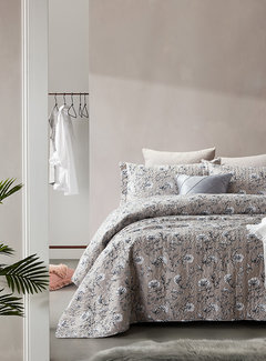 Dreamhouse Bedding Bedsprei Classic Flower Grey