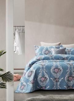 Dreamhouse Bedding Bedsprei Retro Flower Blue