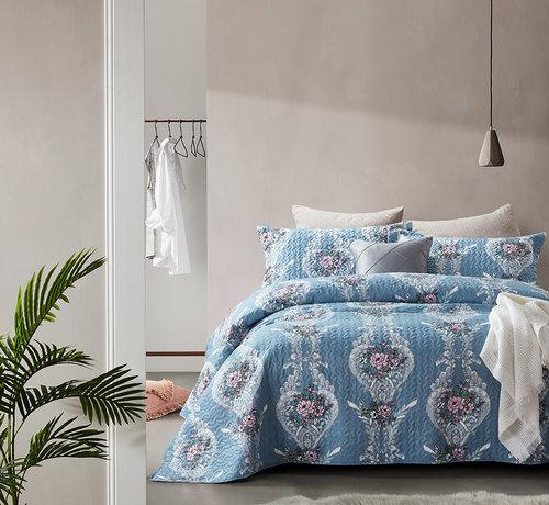 Dreamhouse Bedding Bedsprei Retro Flower Blue