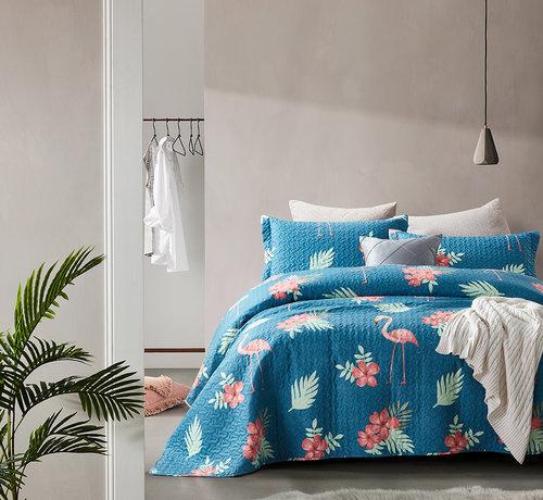 Dreamhouse Bedding Bedsprei Flamingo Blue