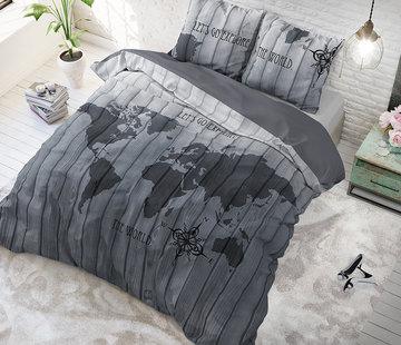 Sleeptime Pure Cotton Dekbedovertrek The World Grey