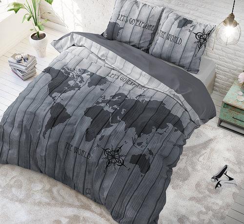Sleeptime Pure Cotton Dekbedovertrek Wereldkaart