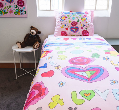 Kayori Kinderdekbedovertrek Katoen Romantisch Dromen