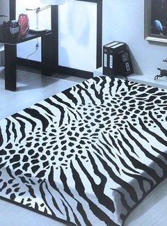 Overige Merken Zebra/Giraffe Deken Grijs
