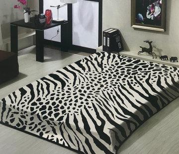 Overige Merken Zebra/Giraffe Deken Wit