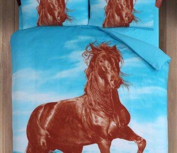 Cotton Club Dekbedovertrek Paard Blauw