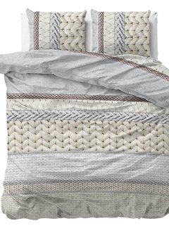 Sleeptime Dekbedovertrek Flanel Knitty Cream