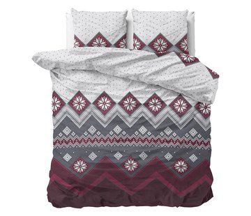 Sleeptime Dekbedovertrek Flanel Nordic Red