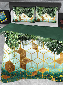 Dreamhouse Bedding Dekbedovertrek Katoen Satijn Forest Sceptic Green