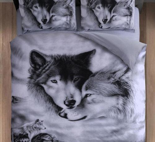 Cotton Club Dekbedovertrek Wolf Grijs