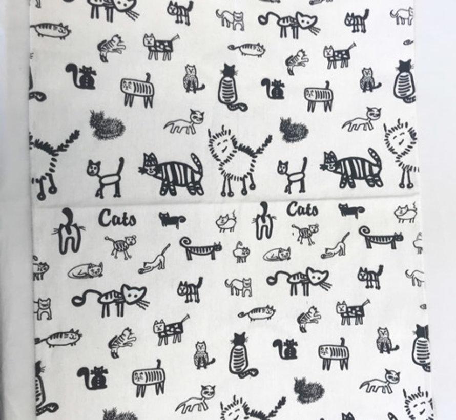 Theedoeken Katten (set van 2)
