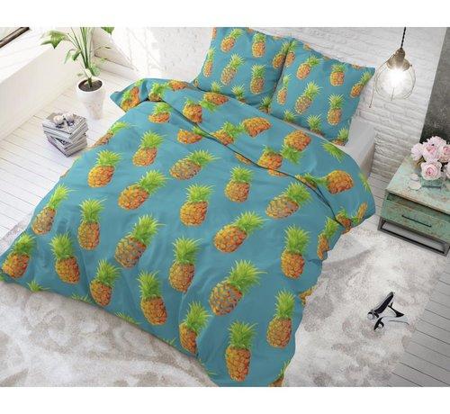 Sleeptime Dekbedovertrek Pineapples Blue