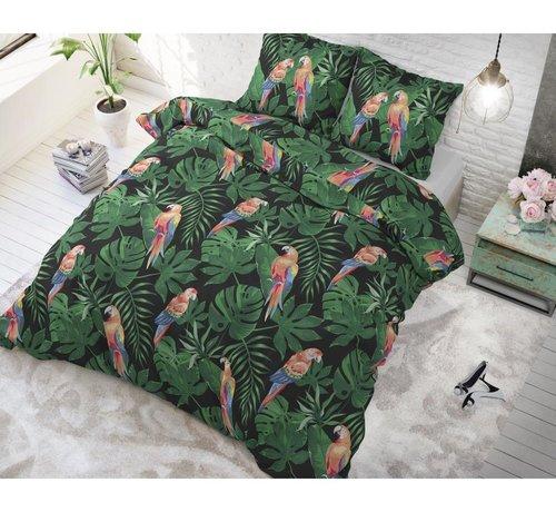 Sleeptime Dekbedovertrek Tropical Parrot Green