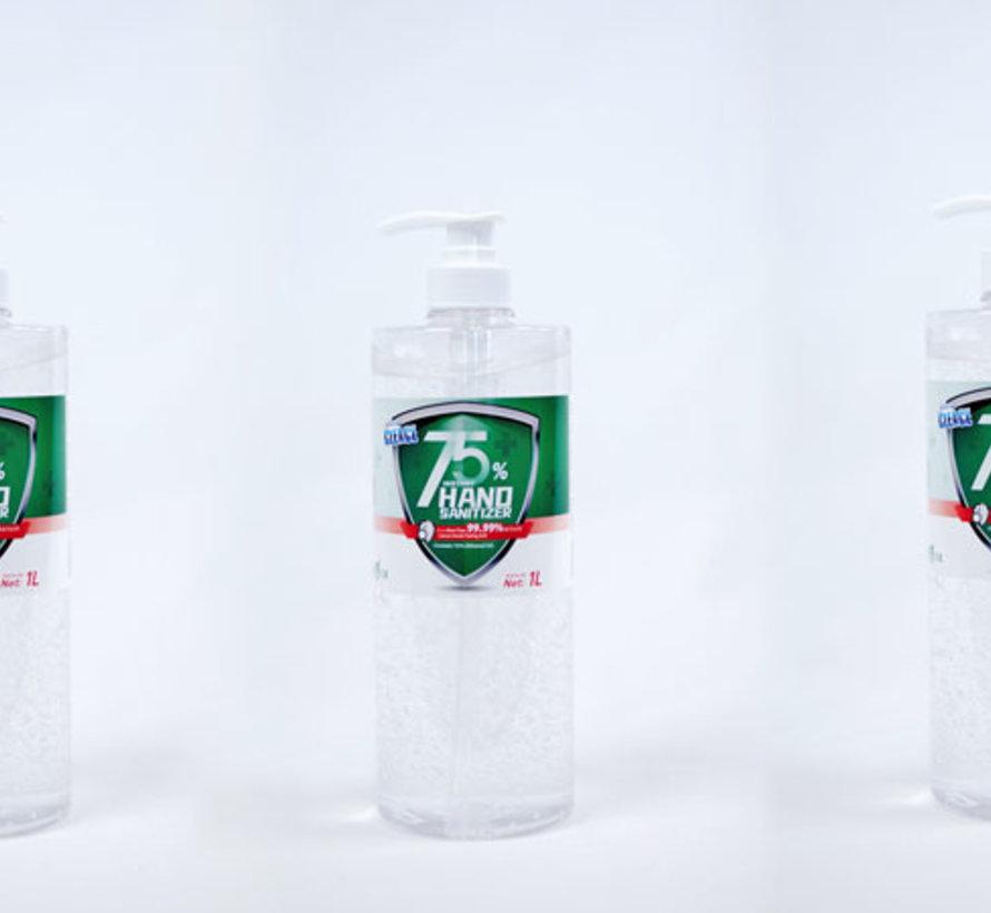 Cleace 1 Liter Jumbo Pot Alcohol Handgel - LET OP! Tijdelijk uitverkocht, ontvang nu 2 halve literflessen voor hetzelfde bedrag! 75% alcohol handgel met pomp