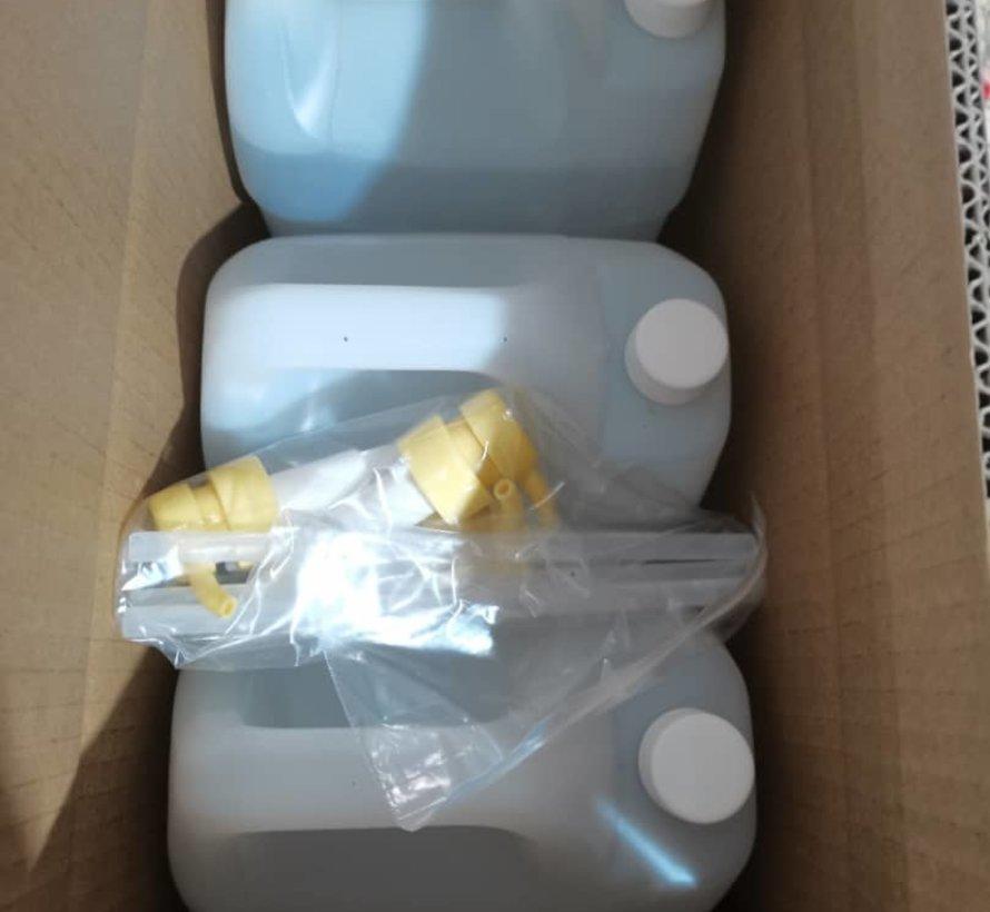5 Liter Hygiënische Handgel Jerrycan Navulling met extra pomp - LET OP! Leverbaar vanaf 2 oktober