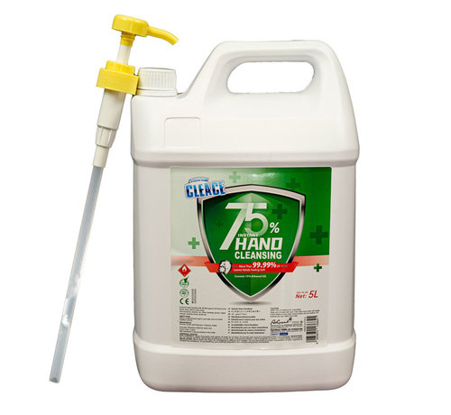 5 Liter Hygiënische Handgel /alcohol Jerrycan Navulling met pomp