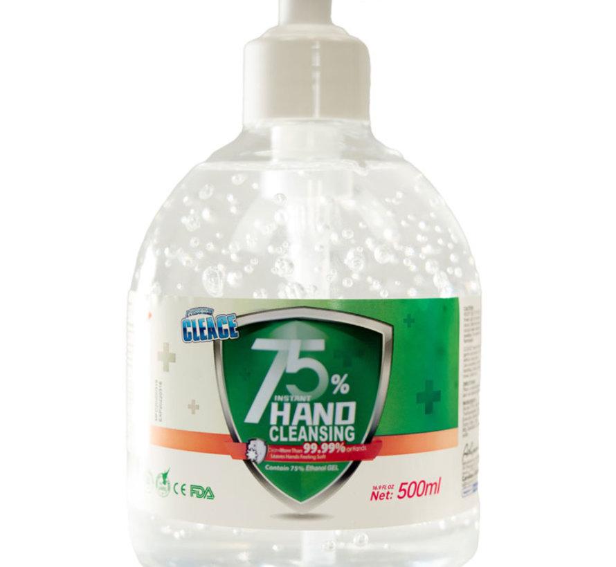 500 ml Alcohol Handgel Met Pomp - 75% Alcohol Handreiniger