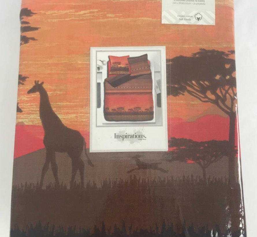 Taupe Dekbedovertrek Safari