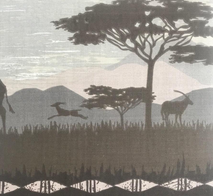 Grijs Dekbedovertrek Safari