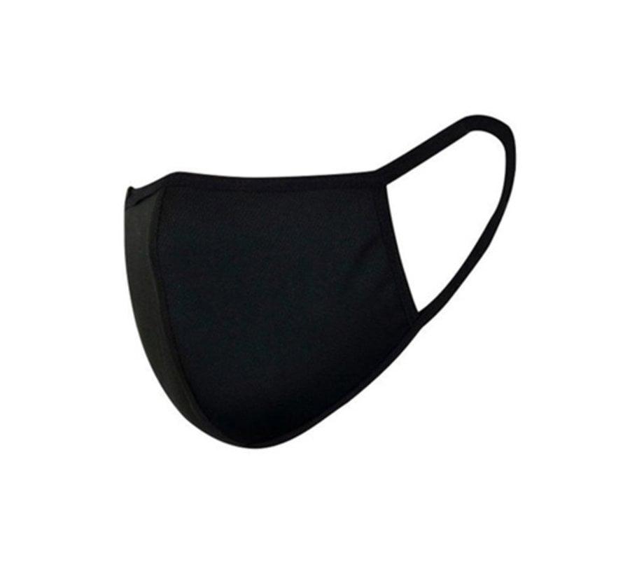 Mondkapjes wasbaar Zwart - Herbruikbare Katoenen Mondkapjes
