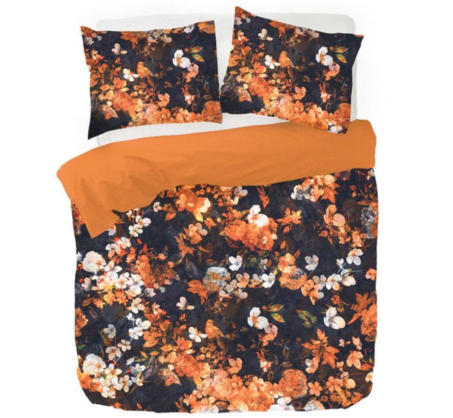 Kleurrijk Dekbedovertrek Katoen Satijn Senji Oranje