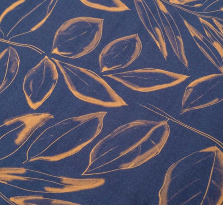 Bladeren Dekbedovertrek Katoen Satijn Nino Blauw