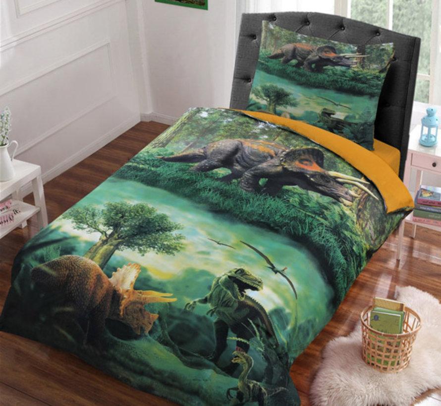 Dekbedovertrek Dinosaurus Groen