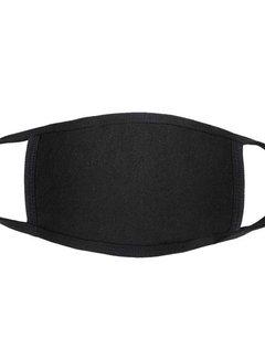 Face Mask Katoenen Mondkapje Zwart v.a €0,75