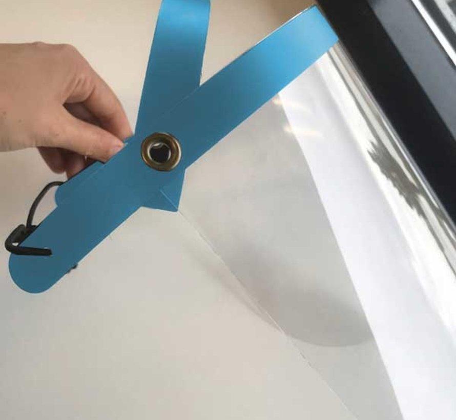 Blauwe Faceshield Opklapbaar - Gezichtsmasker - Gezichtsbeschermer - Gelaatsscherm