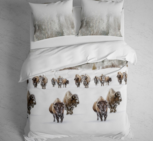 Heckett & Lane Katoen Flanellen Dekbedovertrek Obrien Buffalo