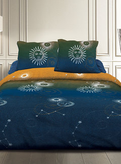 Refined Bedding Dekbedovertrek Solar Universe Blue