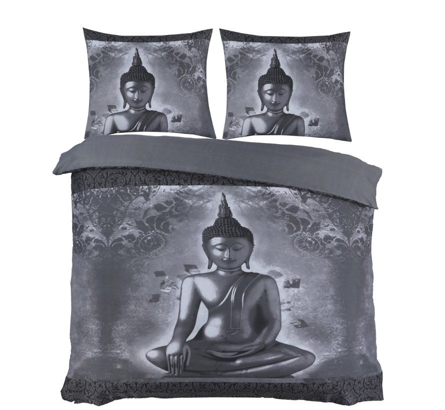 Dekbedovertrek Boeddha Grijs