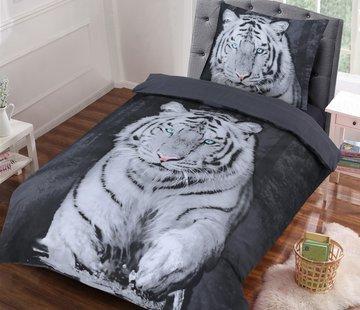 Cotton Club Dekbedovertrek White Tiger