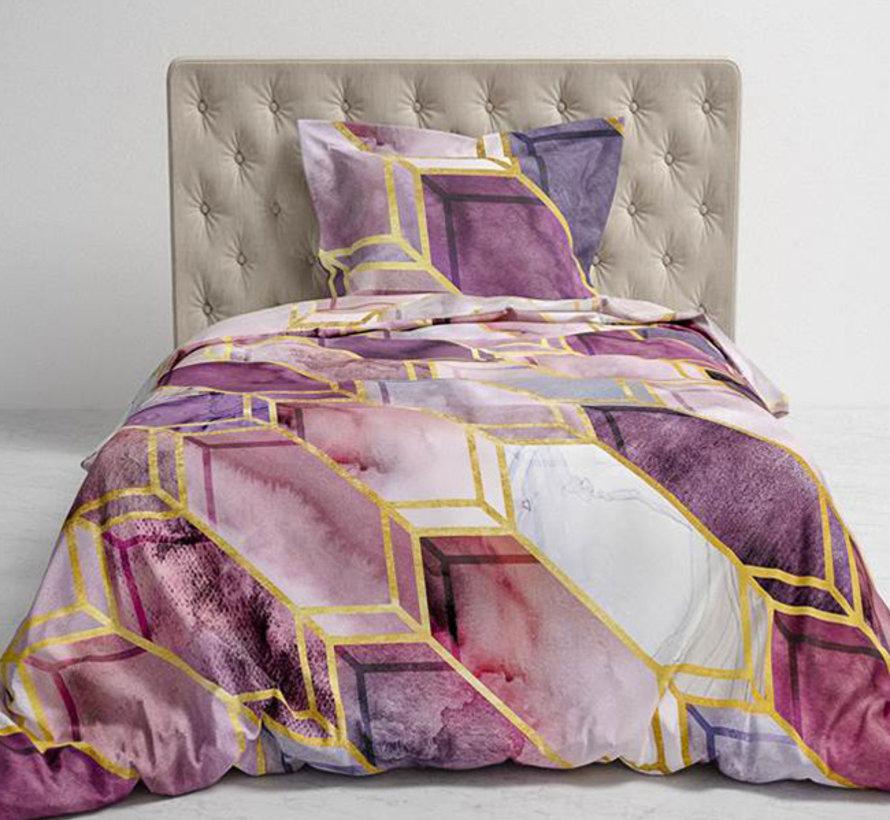 Katoen Satijnen Dekbedovertrek Demi Quartz Purple