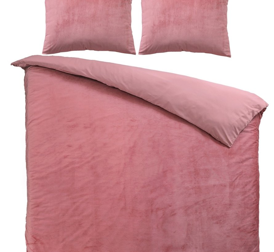 Fluweel Dekbedovertrek Roze