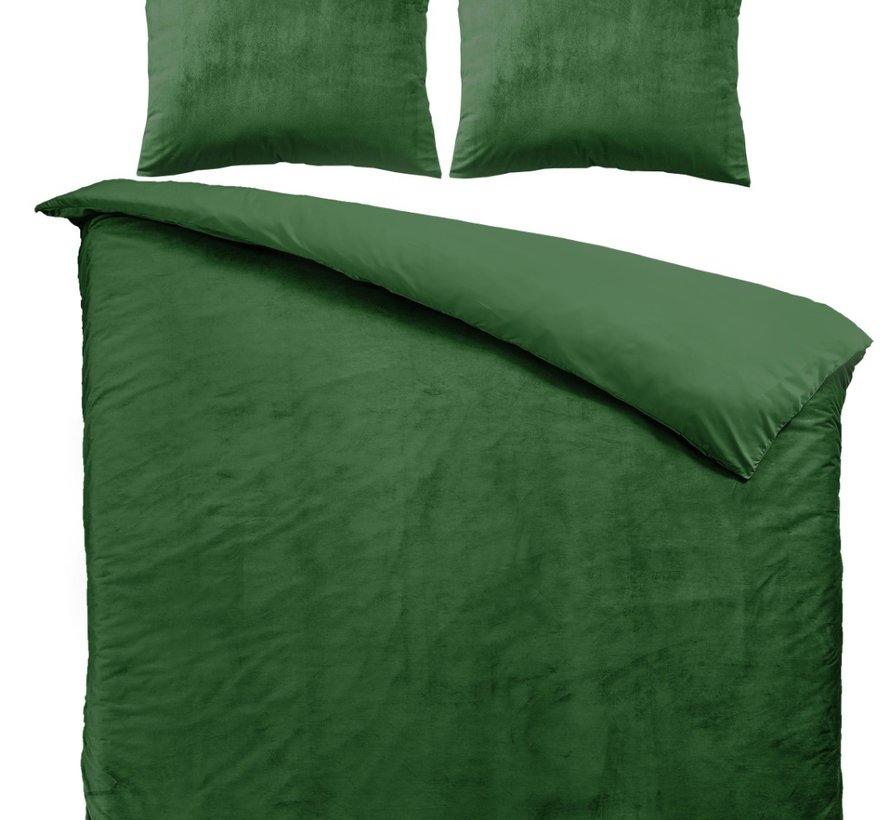 Fluweel Dekbedovertrek Groen