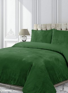Velvet Couture Fluwelen Dekbedovertrek Groen