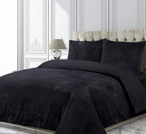 Velvet Couture Fluweel Dekbedovertrek Zwart