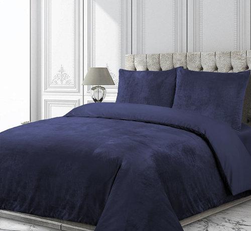 Velvet Couture Fluweel Dekbedovertrek Navy Blauw
